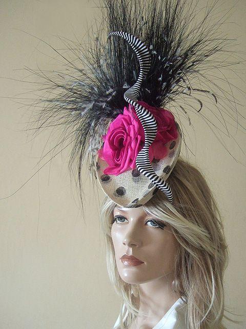 Philip Treacy Polka Dot Headpiece from Dress-2-Impress Hat Hire