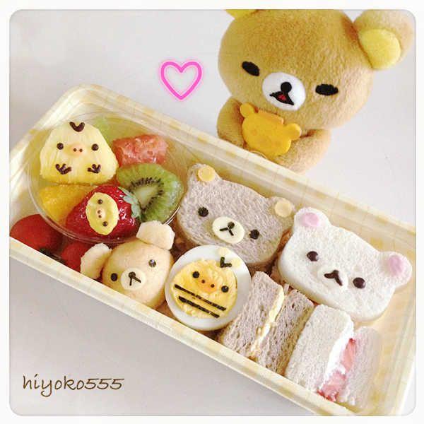 Rilakkuma Sandwich Bento♡