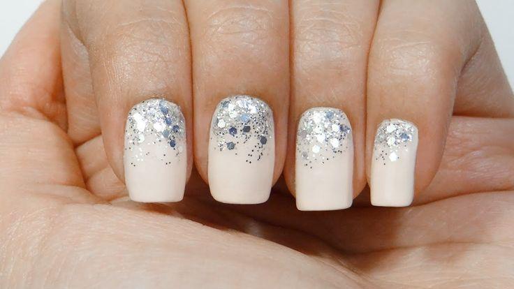 Uñas degradado purpurina o gradient glitter nails