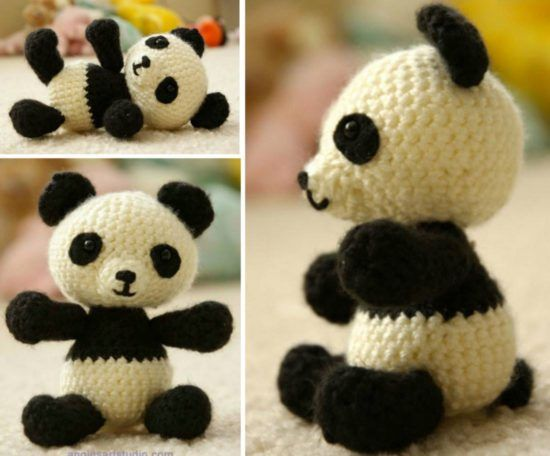 Amigurumi Panda Au Crochet : 1000+ ideas about Crochet Panda on Pinterest Crocheting ...