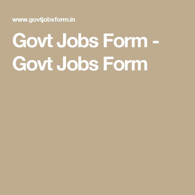 34 best Government Job Alert images on Pinterest Application - on the job training form