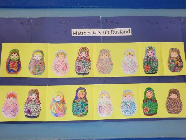 matroesjka's : leuk om te kleuren in het kader van de olympische winterspelen in sochi