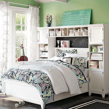 I love the Hampton Storage Bed + Bookcase Tower Set.