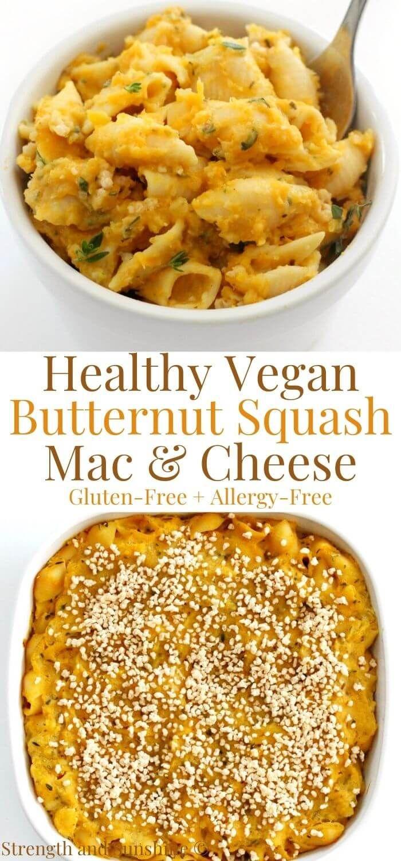 Vegan Butternut Squash Mac And Cheese Gluten Free Allergy Free Recipe In 2020 Butternut Squash Mac And Cheese Gluten Free Cheese Mac And Cheese