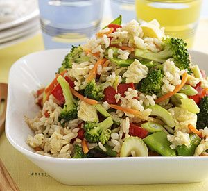 Lots of vegetables and brown rice make this a healthy side dish or a light meatless main dish.: Brown Rice, Vegetarian Fried, Maine Dishes, Foodmost Vegetarian, Healthy Side Dishes, Meatless Maine, Gluten Free, Vegetarian Meals, Vegetables Fried Rice Recipe
