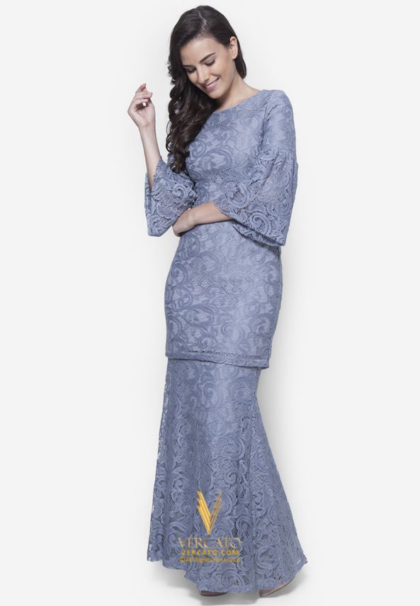 Baju Kurung Moden Lace - Vercato Nora in Grey. Buy simple and elegance flare…
