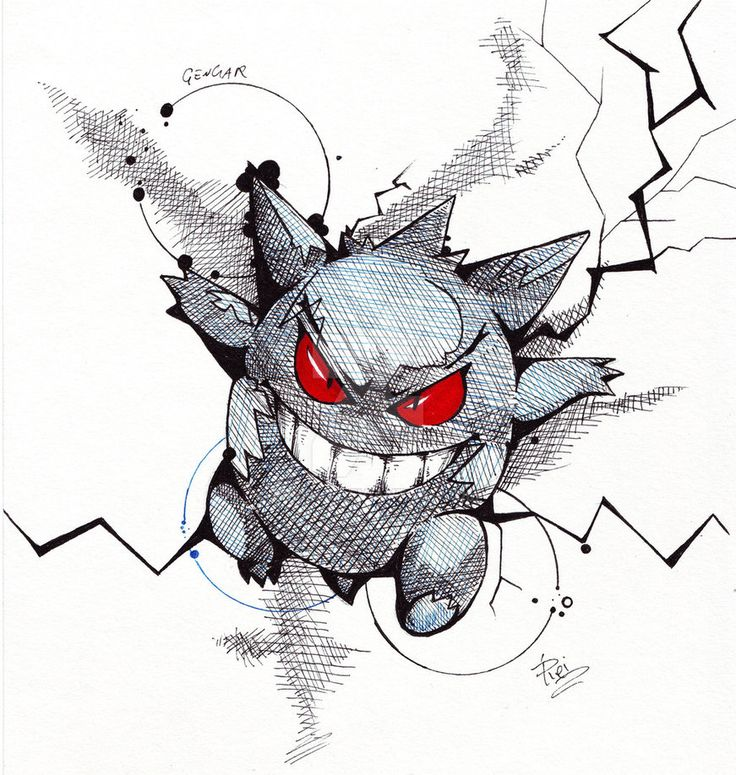 Gengar - Fst Gen Pokemon by eREIina.deviantart.com on @DeviantArt