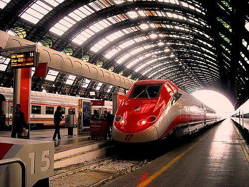 """20090512, Milano Centrale, ETR500 """"freccia rossa"""""""