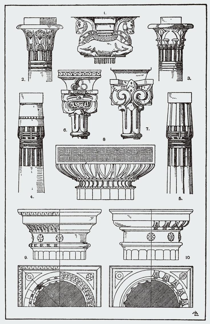 Best Columns Capitals Images On Pinterest Architecture