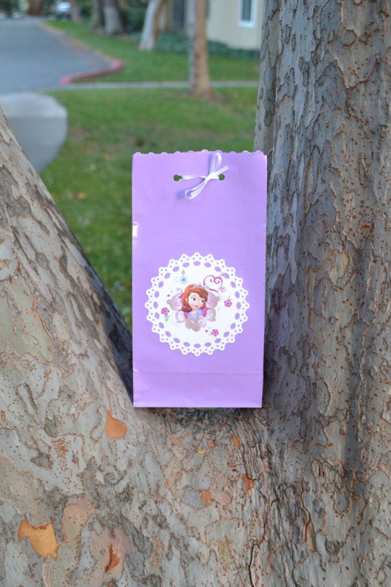 109 best ideas sophia the first images on pinterest birthdays 3 sofia the first goody bags by hokeypokeypapers on etsy 175 candy bag thank you solutioingenieria Choice Image