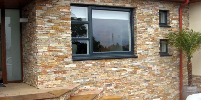 Stonepanel orient oro fachadas pinterest piedra - Revestimiento de chimeneas modernas ...