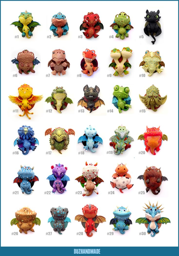 30 Polymer Clay DRAGONS - Final Edition by buzhandmade.deviantart.com on @deviantART
