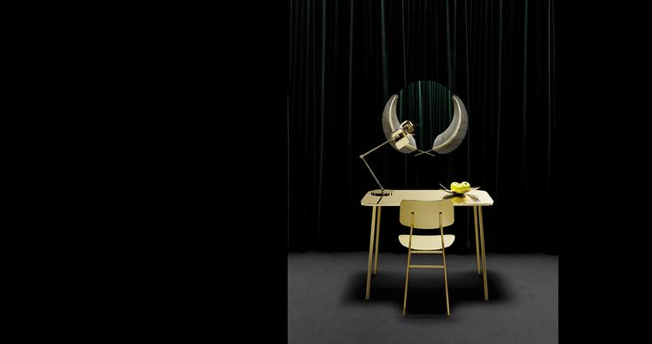 #Ghidini1961 #NikaZupanc #Miami #SunsetMirror #flamingolamp #photo #TommasoSartori #BrassEnsemble #brassdesign #design #designweek #milan