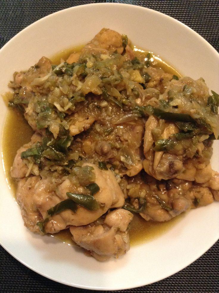 Ayam cabe hijau wijen #homemade #masakankoe