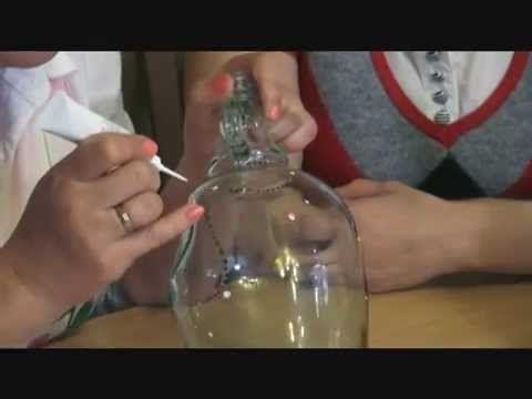 ▶ Мастер класс точечная роспись бутылки - YouTube