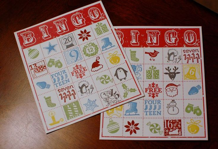 Holiday Bingo cards.: Bingo Cards, Christmas Cards, Cards Ideas, Cards Stampin Ideas