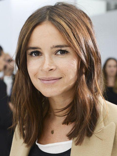 Miroslava Duma effortless medium length hairstyle