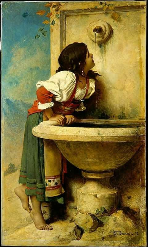 Roman Girl at a Fountain - 1875 | Léon Joseph Florentin Bonnat #French, 1833-1922  Medium: Painting - oil on canvas | Location: Metropolitan Museum of Art - New York, NY  (United States - New York)