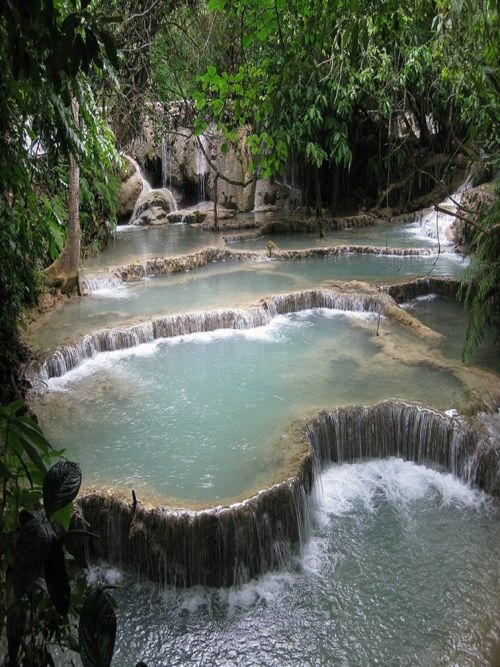 no wordsWater, Swimming Pools, Laos, Beautiful, Places, Hot Tubs, Nature Pools, Hot Spring, Backyards