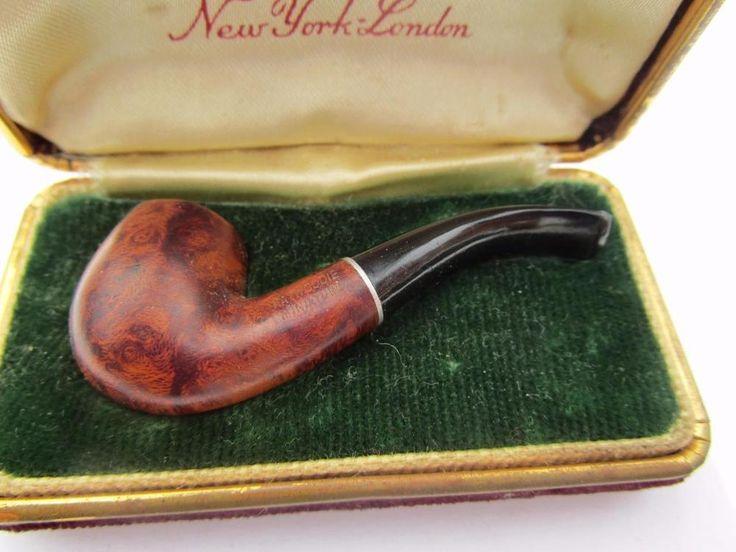 Vintage Kaywoodie Miniature salesman Sample Wooden Tobacco Pipe Velvet box
