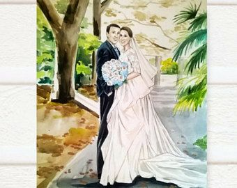 Ritratto di nozze personalizzati ritratto della sposa sposo