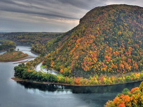 The Pennsylvania side of the Delaware Water Gap - autumn by b k