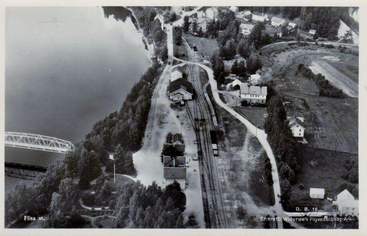Flisa stasjon Solør Hedmark fylke Solørbanen Foto: Widerøe