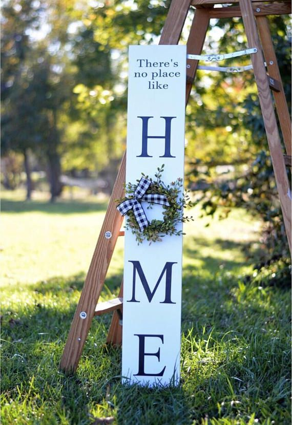 There S No Place Like Home Tall Porch Sign Black Welcome Sign White Welcome Sign Quality Handmade Porch Si Porch Signs Porch Welcome Sign Front Porch Signs