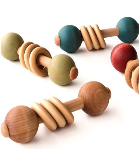 559 Toys - Wooden Baby Rattle