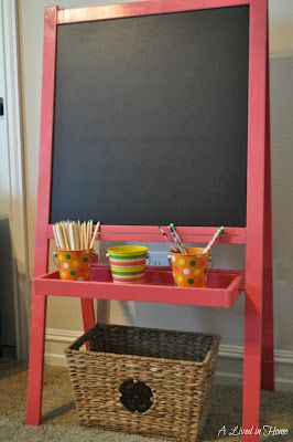 Love the color - perfect for a kids craft area! When we get our Ikea easel it will certainly be getting a paint.