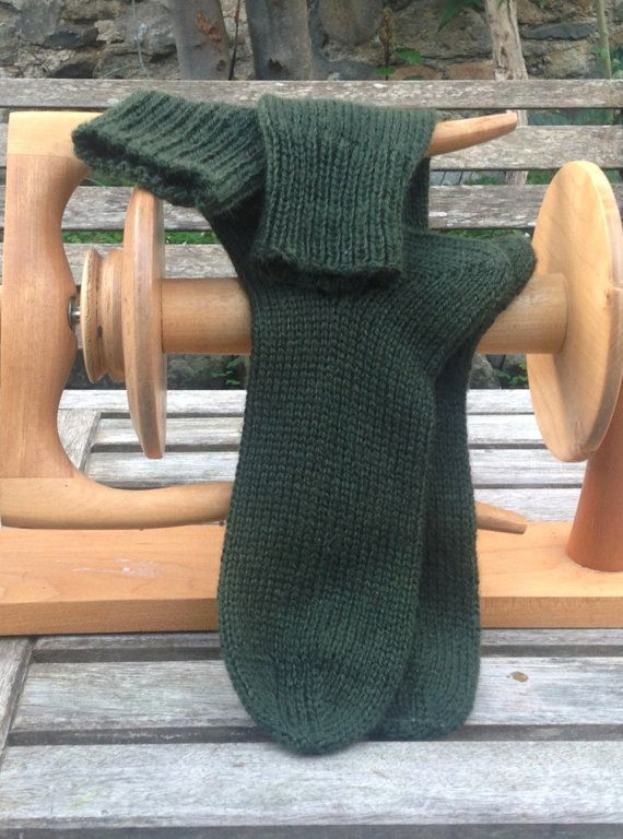 Mens Wool Socks Handmade Knitted in Superwash Merino Wool
