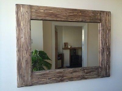 Specchio legno rustico