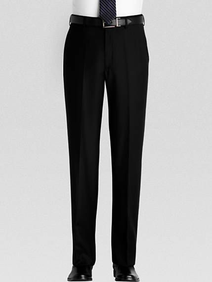 Men's black slack pants. | Mens Pants - Dress Pants for Men #howmendress #menswear #mensfashion
