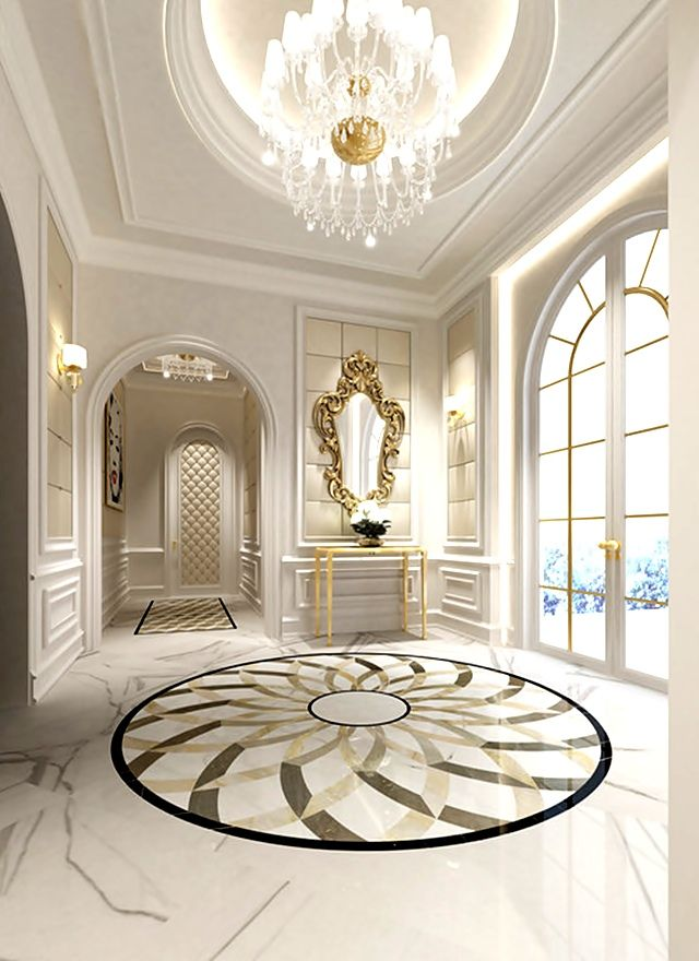 Love the design on an already gorgeous marble floor ...