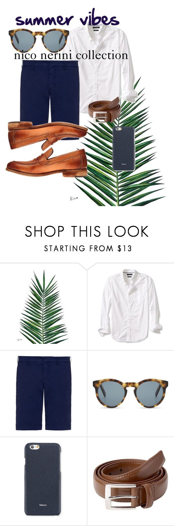 """summer vibes inspiration"" by nico-nerini on Polyvore featuring Nika, Banana Republic, FAY, DICK MOBY, Valextra, men's fashion e menswear"