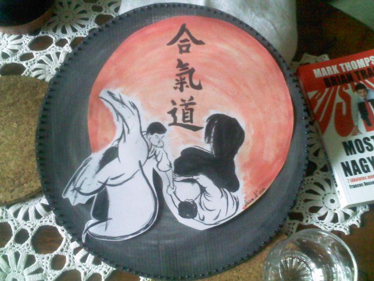 Aikido, watercolor