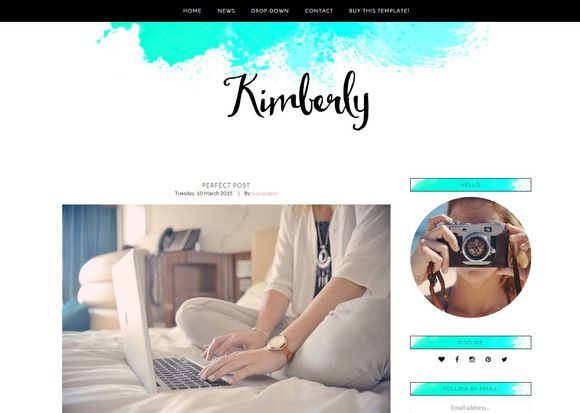 Feminine Wordpress Theme - Kimberly by LucaLogos on Creative Market