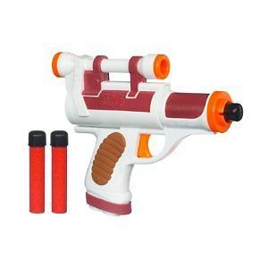 Laser Pistol Remove Scope, add barrel with laser pointer in it. add battery and sound unit. repaint.