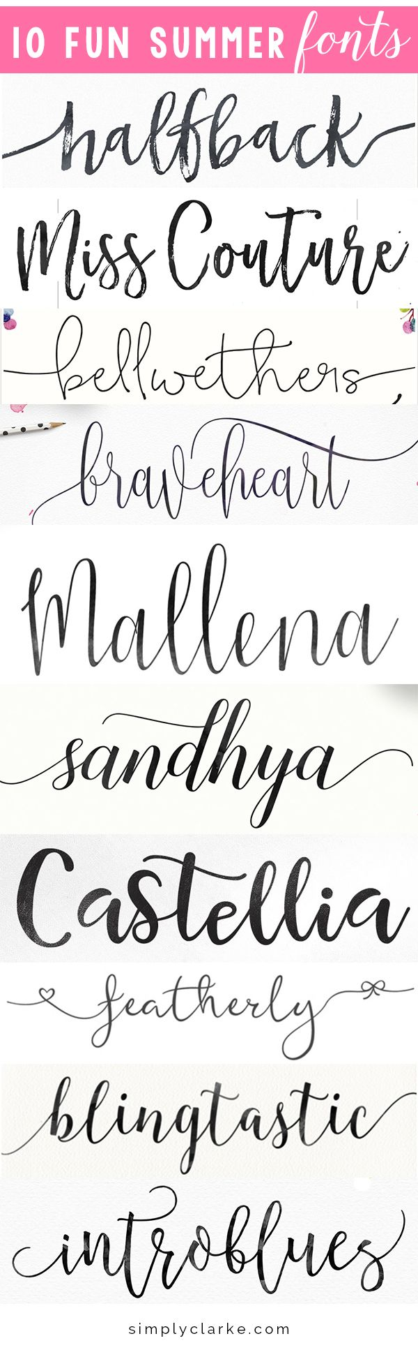 best different writing fonts - photo #35