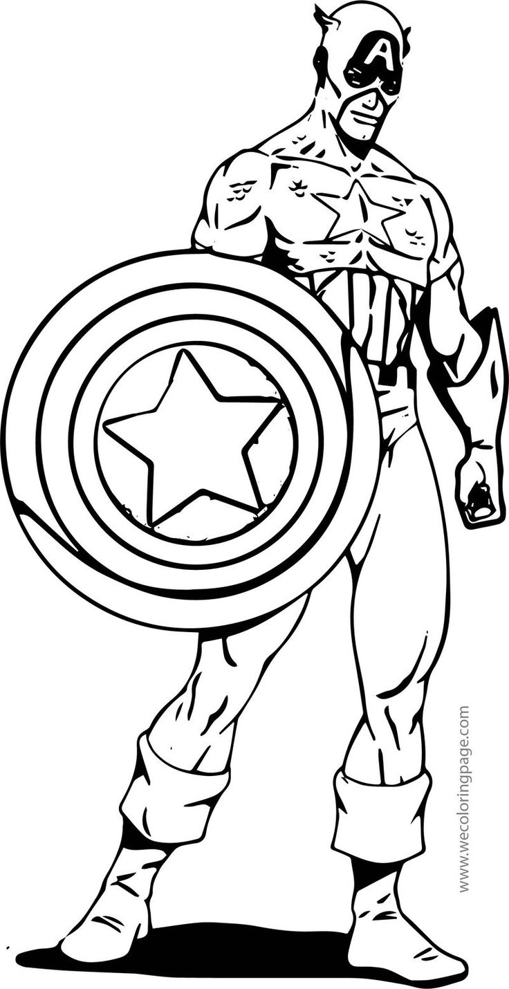 Captain America Cartoon Coloring Page 2   Captain america ...