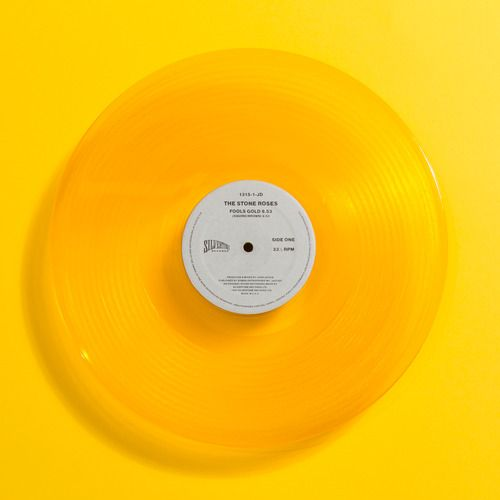 """Yellow - The Stone Roses, Fools Gold 12"""", 1990. Repinned by le www.castingparisien.com"""