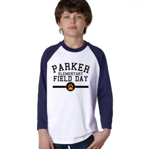 field day design on white navy anvil youth raglan t shirt inkthreadcom