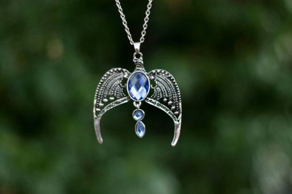 Serdaigle aigle Collier argent Harry Potter Serdaigle collier Pierre en cristal bleu argent chaîne homard griffe fermoir gratuitement aux Etats-Unis expédition
