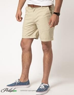 Бежевые шорты по мужские