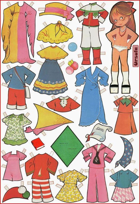 Бумажные куклы Марии Паскуаль/ Paper dolls by Maria Pascual / Бумажные куклы / Бэйбики. Куклы фото. Одежда для кукол