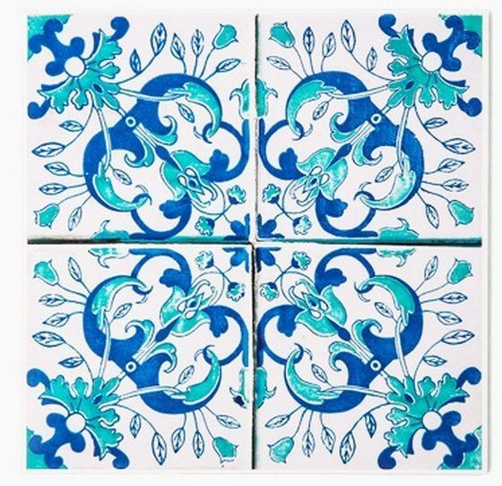 Decolfa Tile Sticker (Blue.G) For DIY Decorate Home Design Art Kitchen Room Sink