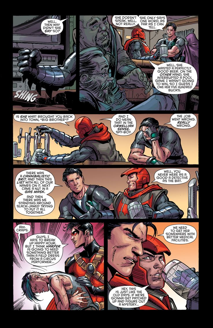 "Batman & Robin - Eternal - Jason, Tim and ""big brother"" Dick"
