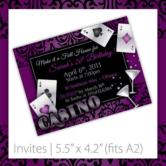 Casino Party Invitations . PRINTABLE . by BlackCherryPrintable, $9.00