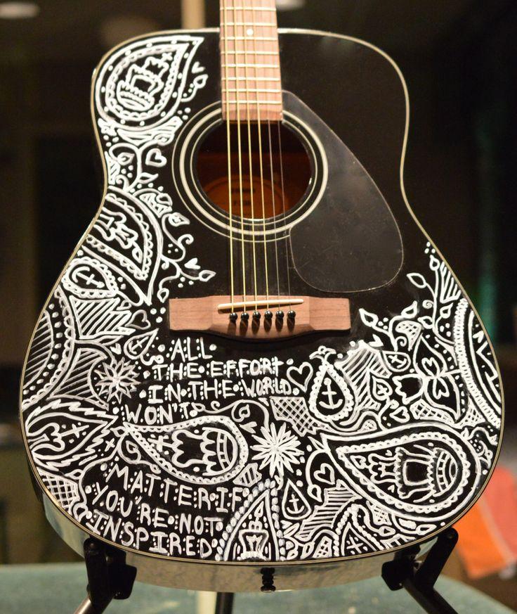 black Yamaha acoustic guitar for sale