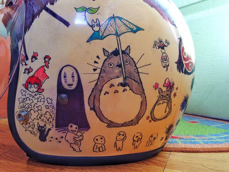 Studio Ghibli helmet art